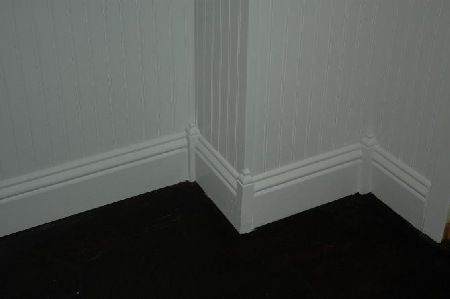 Base Molding Feature Corner Blocks With Finials